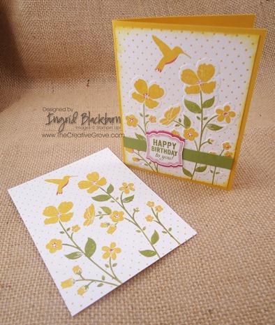 Wildflower Meadow 001 Embossed