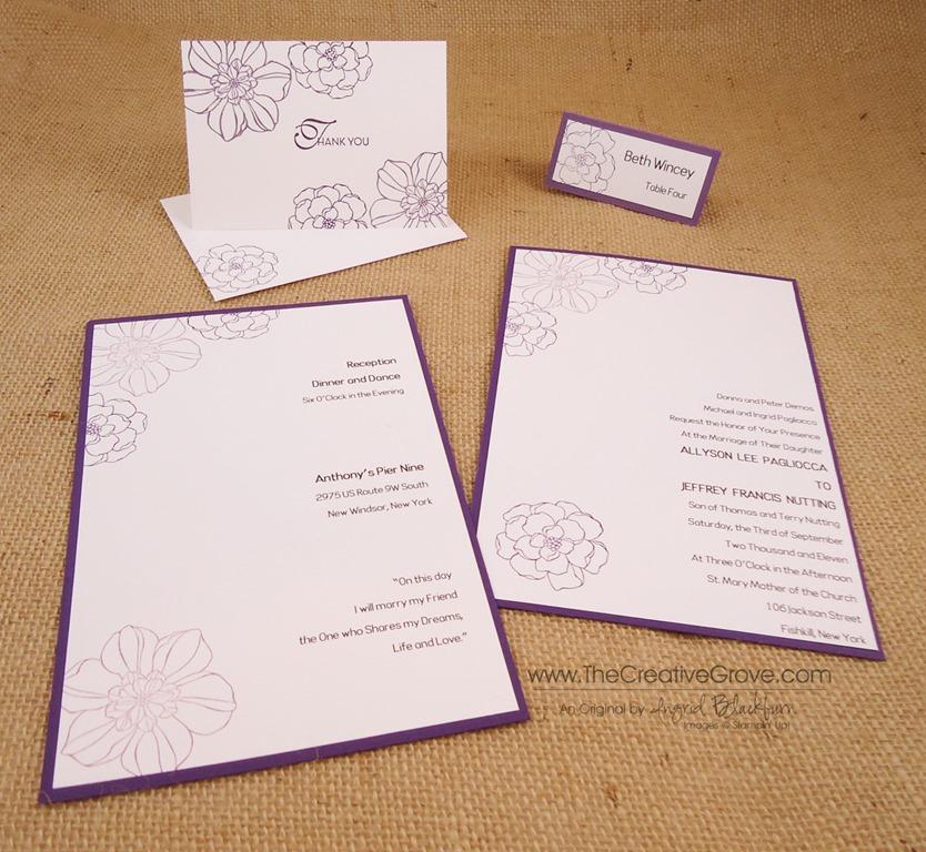 Secret Garden 004 Diy Wedding Set