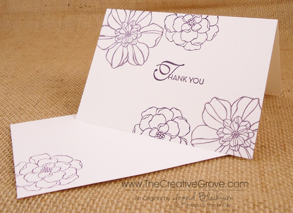 Secret Garden 004 Thank You Card