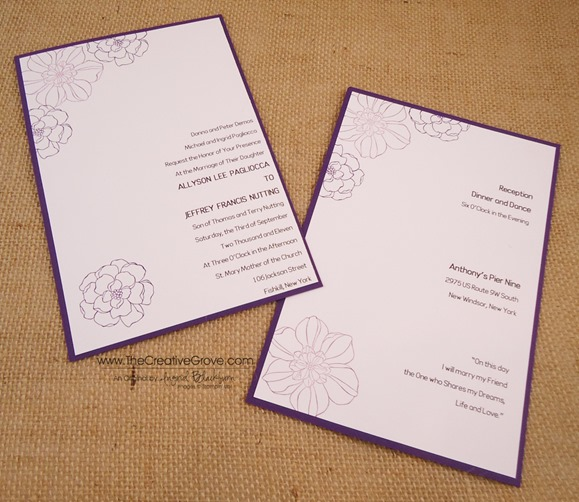 Secret Garden 004 Wedding Invite