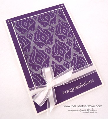 Beautifully Baroque Wedding Card 002 Angle