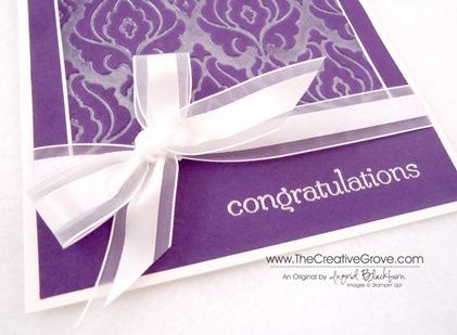 Beautifully Baroque Wedding Card 002 Bow