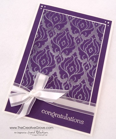 Beautifully Baroque Wedding Card 002 Side