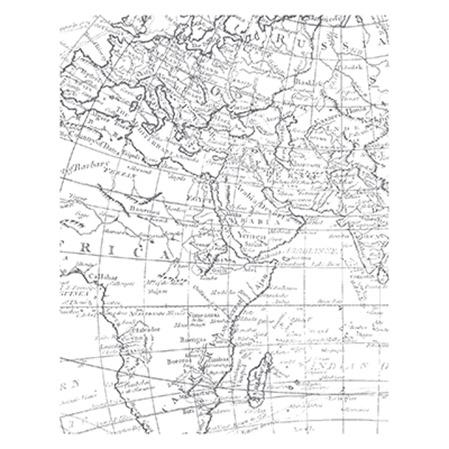 World Map Stamp