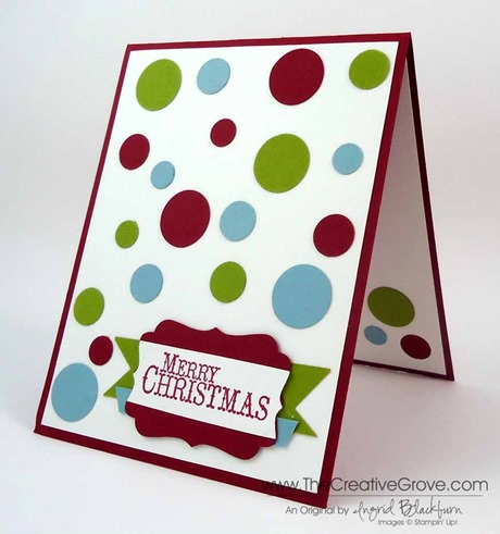 Clean and simple Christmas card 002