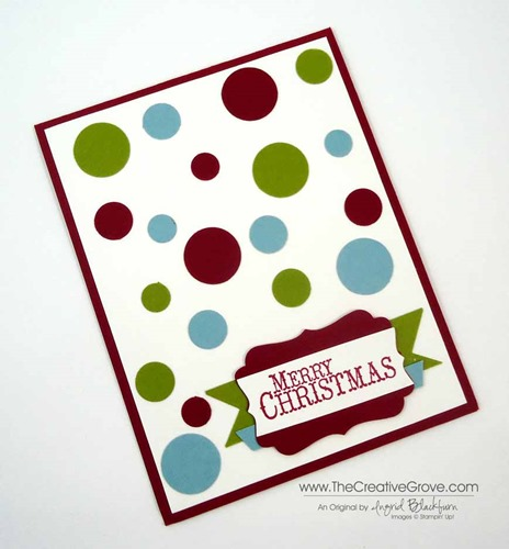 Clean and simple Christmas card 003