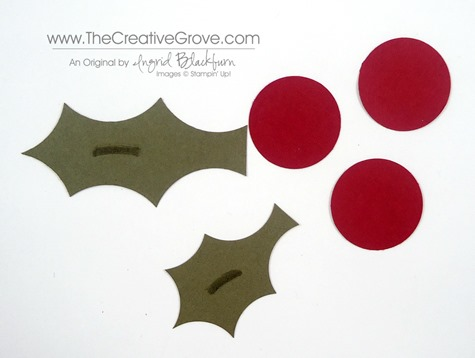 Holly Leaves with a Circle Punch 005