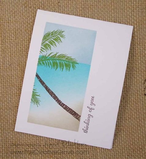 Stampscapes Palm Tree One Layer Creative Scenery Card (3)