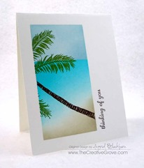 Stampscapes Palm Tree One Layer Creative Scenery Card (4)