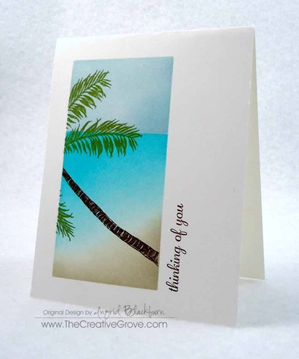 Stampscapes Palm Tree One Layer Creative Scenery Card (5)