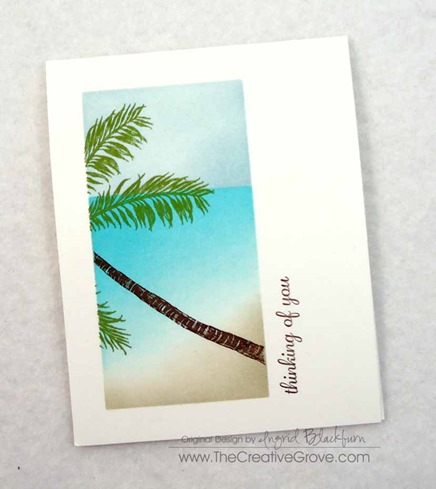 Stampscapes Palm Tree One Layer Creative Scenery Card (8)