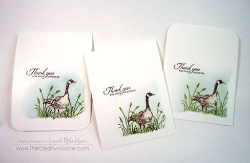 cards made with wetlands stamp set