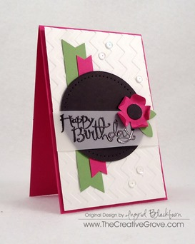 Clean and Simple Flower Birthday Card (2)