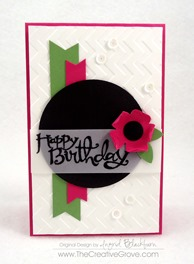 Clean and Simple Flower Birthday Card (4)