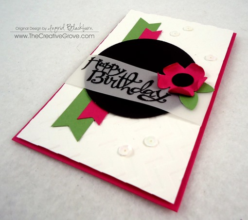 Clean and Simple Flower Birthday Card (8)