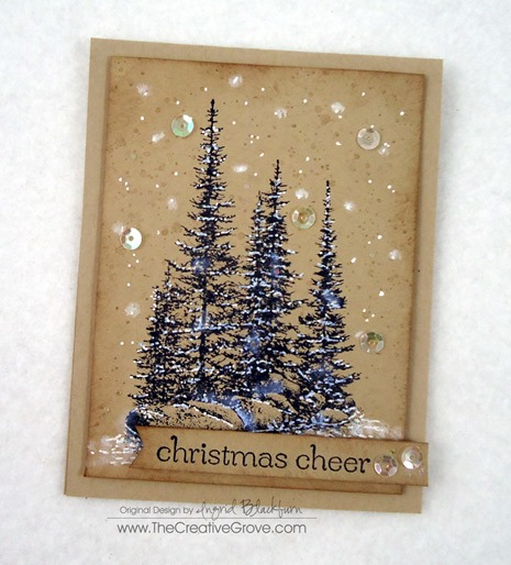 Pines on Rocks Winter Sequin Card (5)