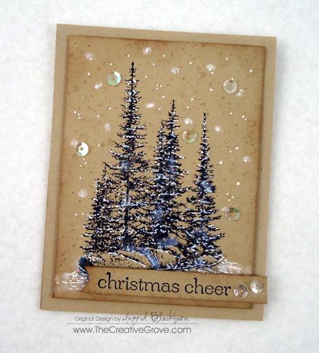 Pines on Rocks Winter Sequin Card (5)