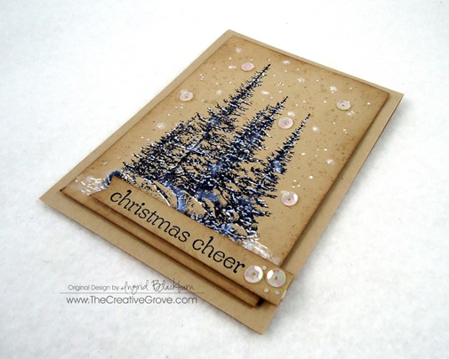Pines on Rocks Winter Sequin Card (7)
