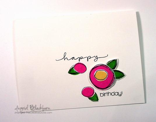 Scribble Flowers Trio003