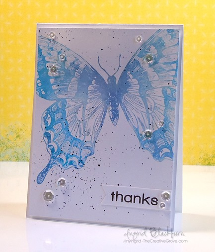 Watercolor Stamped Swallowtail Stamp by Stampin Up