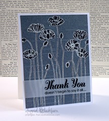 Pleasant Poppies Background Stamp