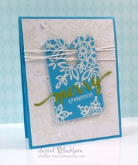 clean and simple snowflake tag card