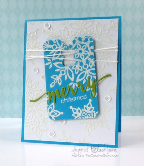 clean and simple snowflake christmas card