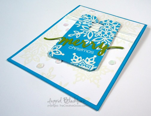 clean and simple snowflake card