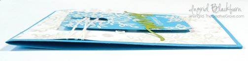 CAS Blue Snowflakes Tag 005
