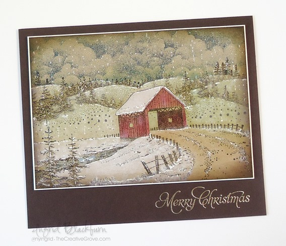 Vintage Snow Covered Bridge -vintage christmas cards