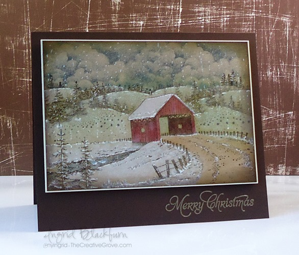 how to make a vintage christmas card