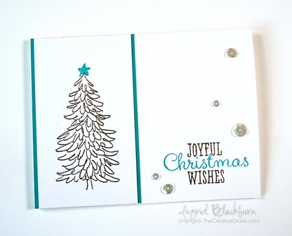 Non Traditional Evergreen Christmas Cards