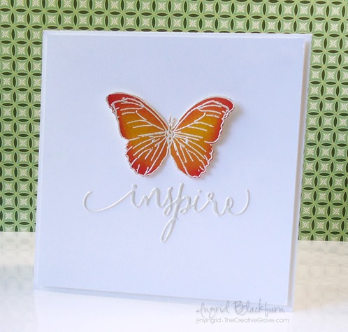 Embossed Butterfly Stamps