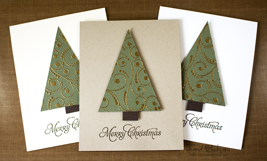 CAS Embossed Tree Trio