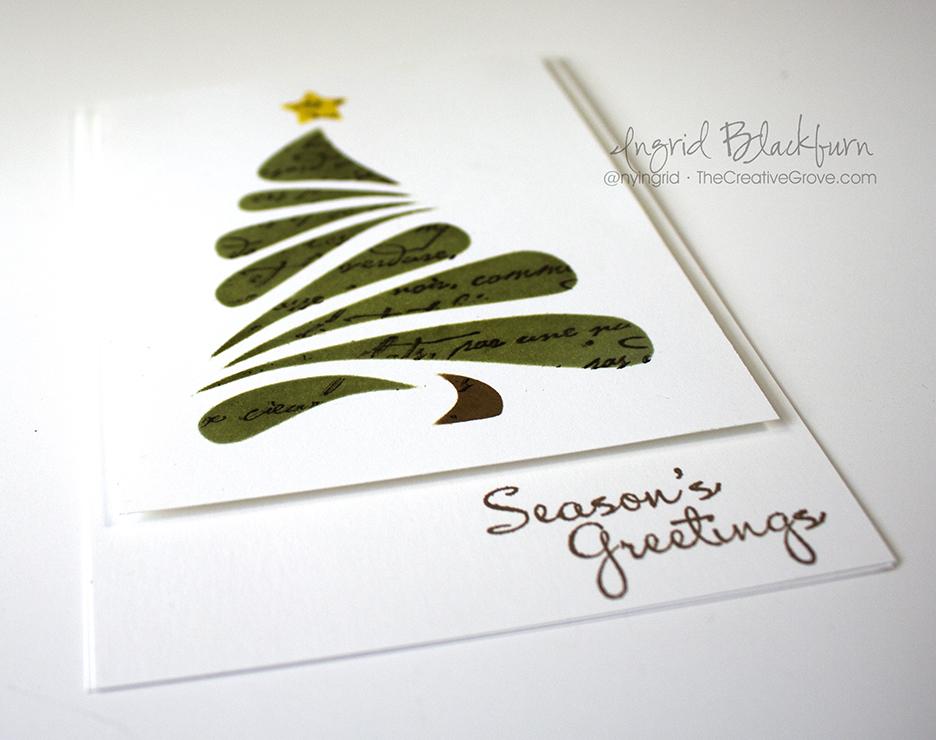 Stenciled Christmas Tree 004