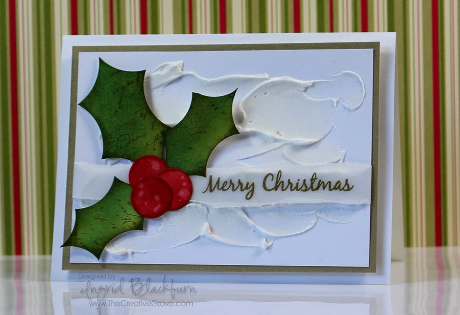 Christmas Cards with embossing paste