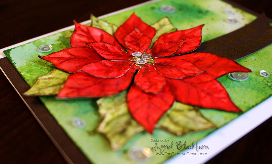 Watercolored Poinsettia 006