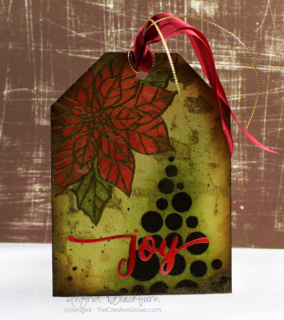 Mixed Media Christmas Tags