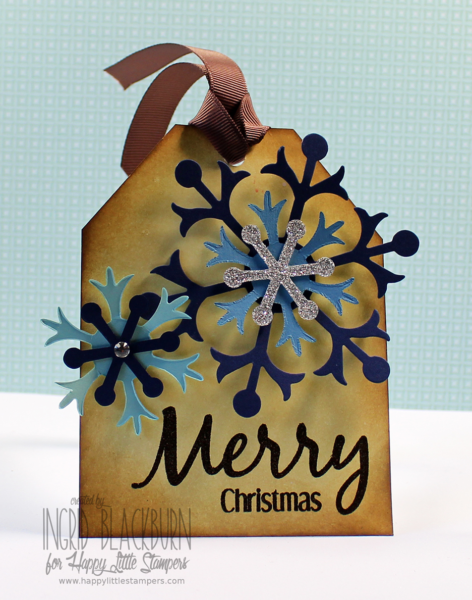 Vintage Christmas Tags using Distress Ink Blending