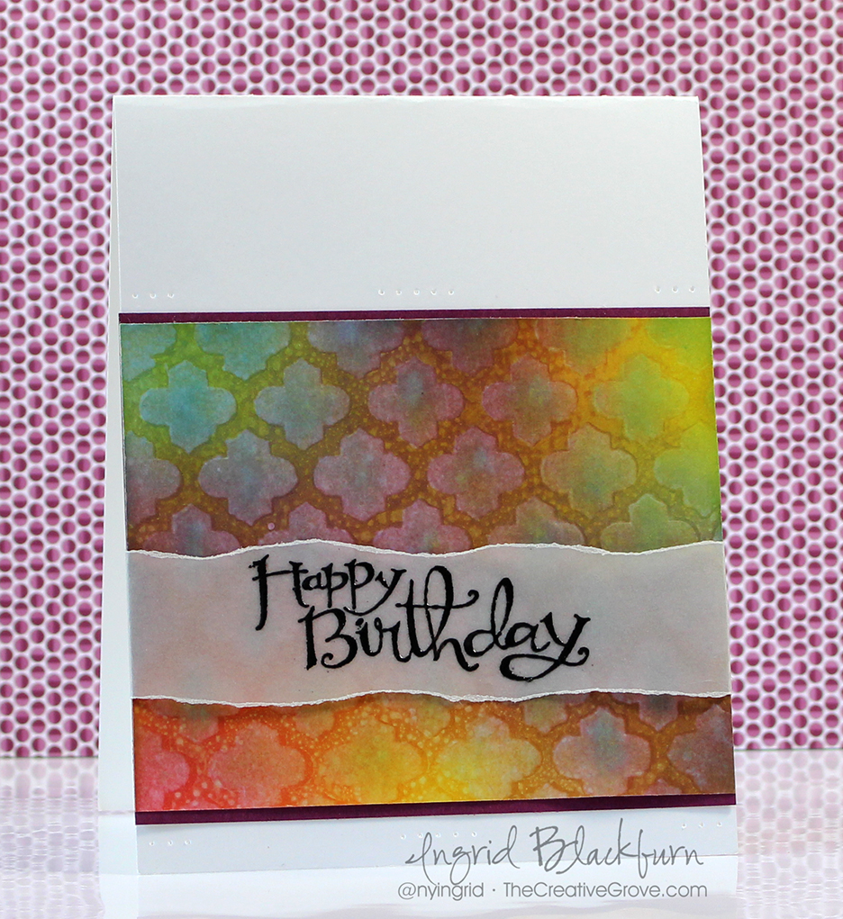 Stenciled Birthday Wishes 001