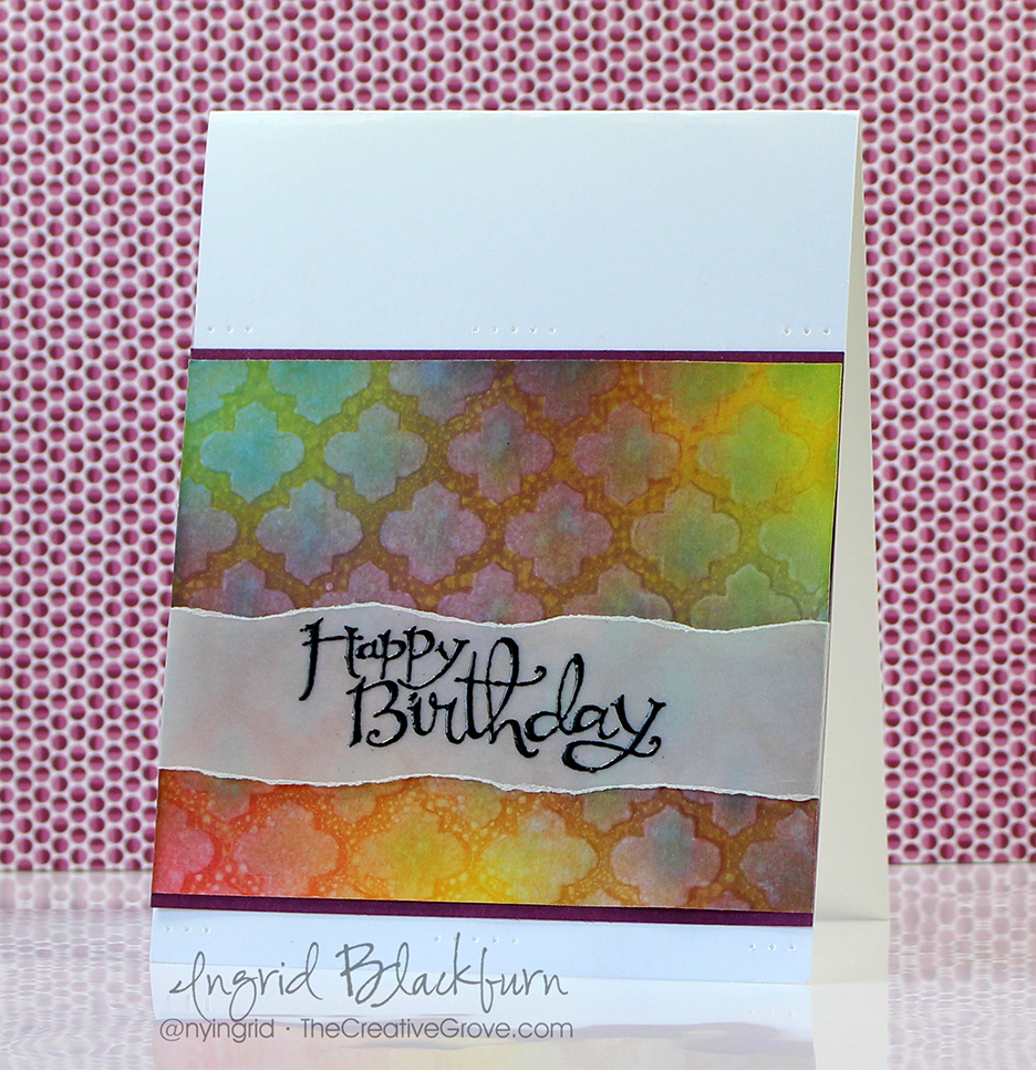 Stenciled Birthday Wishes 003