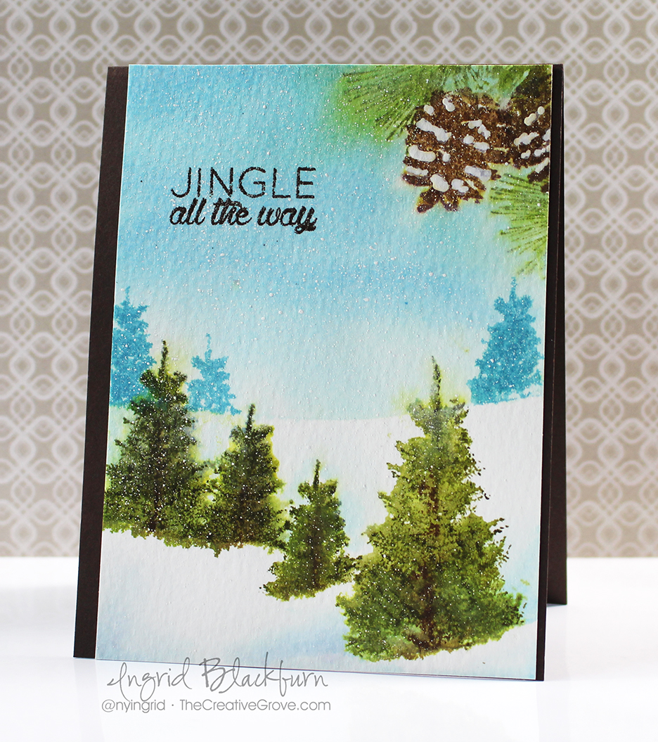Watercoloring techniques for scenic cards