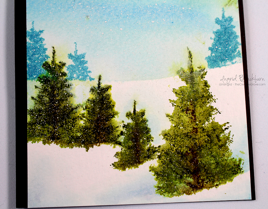 Watercolored Snow Scenic Cards