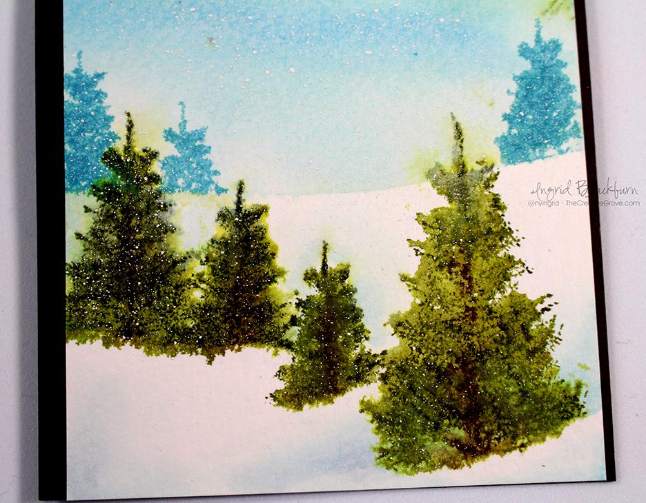 Watercolored Snow Scenic Cards