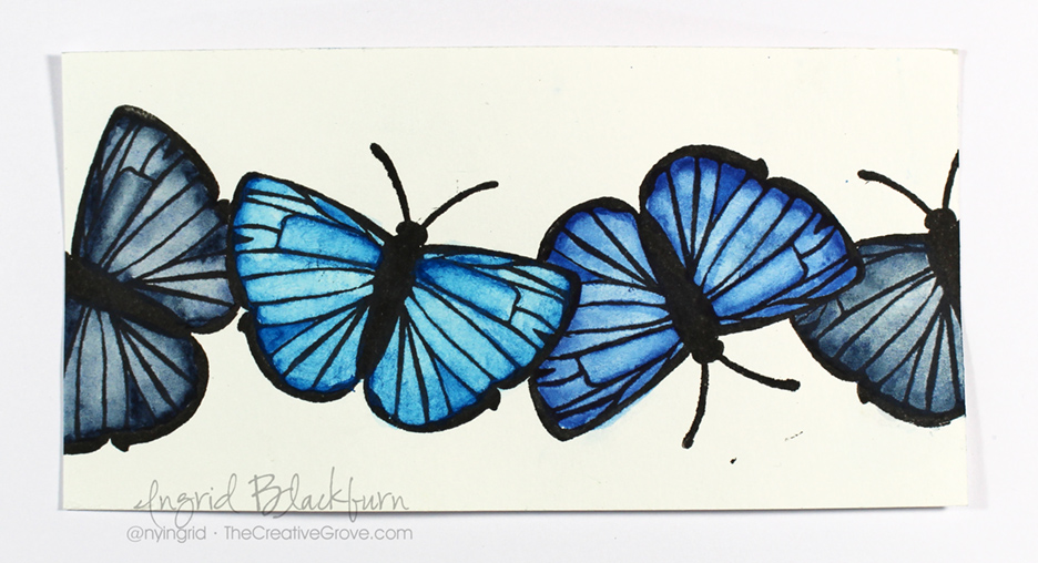 Mixed-Media-Watercolor-Butterflies-007