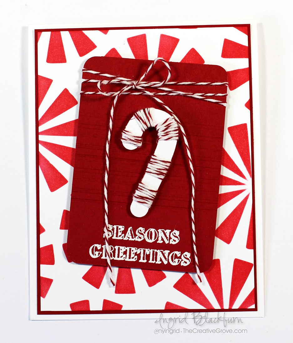 Peppermint Christmas Cards - Bakers Twine