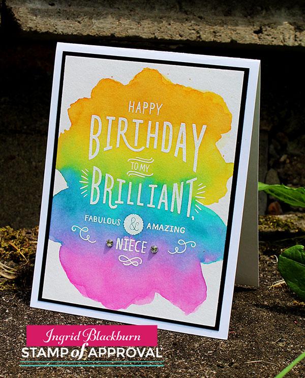 Simple Watercolor Cards - Ingrid Blackburn