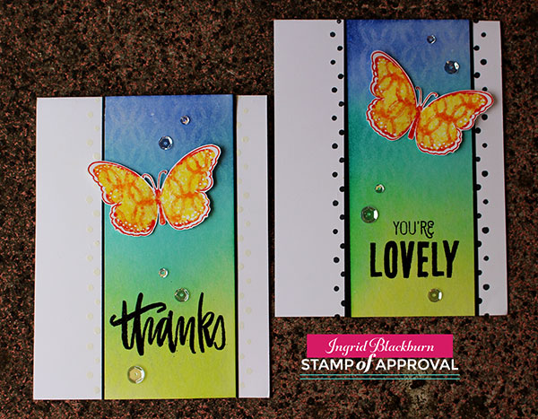 Butterfly Notes - Stamp of Approval - Catherine Pooler