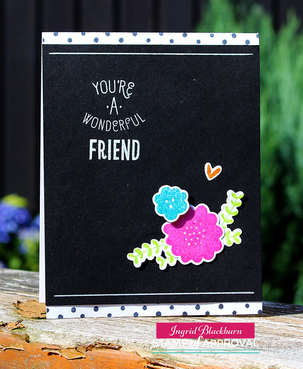 Polka Dot Floral Cards