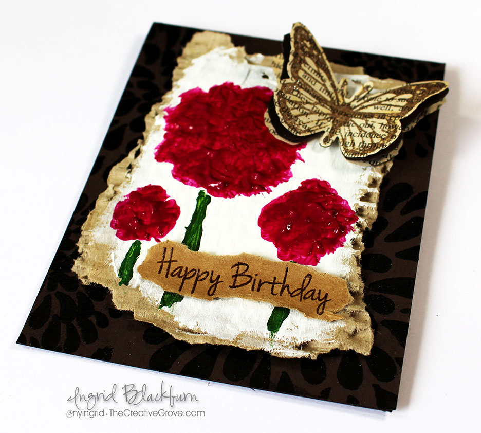 Happy Little Stampers Mixed Media Challenge - Recycled